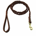 buy discount  K-9 Komfort 4 ft. Woven Leather Snap Lead -- 3/4 in.