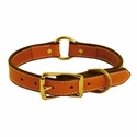 buy discount  1 in. K-9 Komfort Deluxe Leather Center Ring Collar