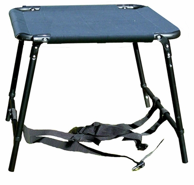 Short Sportstand Folding Dog Stand with Black Seat -- Includes Decoy Bag