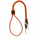 buy discount  Orange Mendota Solid Braid Lanyard Double Snap