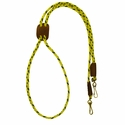buy discount  Hi-Vis Yellow Mendota Solid Braid Lanyard Double Snap