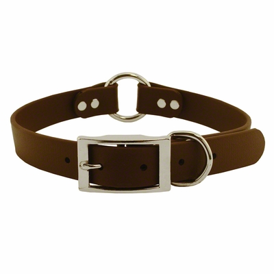 1 in. Mendota DuraSoft Brown Hunt Dog Center-Ring Dog Collar