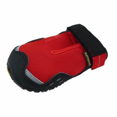 Red Bark'n Boots Grip Trex Dog Boots by Ruff Wear -- Individual Boot