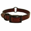 buy discount  Mahogany K-9 Komfort 1 in Center Ring Collar with Black Hardware