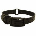 buy discount  Black K-9 Komfort 1 in Center Ring Collar with Black Hardware