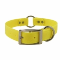 buy discount  Yellow 1 in. K-9 Komfort EverFlex Center Ring Dog Collar with Stainless Steel Hardware