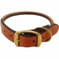 buy discount  1 in. K-9 Komfort Round Leather Dog Collar