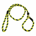 buy discount  Yellow and Hunter Green Whip Lash Slip Lead