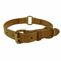 CLEARANCE -- K-9 Komfort 1 in. Old Time Harness Leather Center Ring Dog Collar ---CUT 11/20/2013