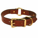 buy discount  3/4 in. Mendota Hunt Dog Leather Center-Ring Safety Puppy / Small Dog Collar