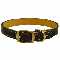 buy discount  1 in. Deer Tan Latigo Leather Dog Collar