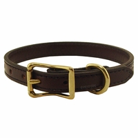 buy discount  3/4 in. Back Trail Outfitters Bridle Leather Standard Puppy / Small Dog Collar