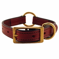 buy discount  3/4 in. K-9 Komfort Deluxe Leather Center Ring Puppy / Small Breed Collar -- 12 in.