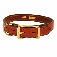buy discount  3/4 in. Mendota Hunt Dog Leather D-Ring Puppy / Small Dog Collar