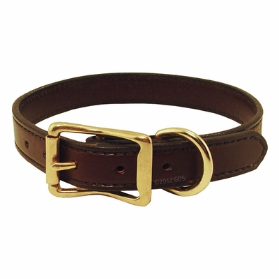 1 in. Back Trail Outfitters Bridle Leather Standard Dog Collar