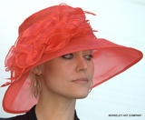 Packable Organza Kentucky Derby Hat