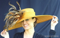 Sunflower Feather Burst Hat