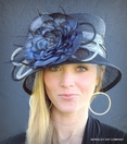Women's Flower Cloche Hat for the Derby
