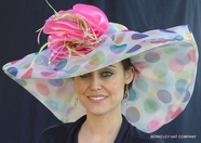 Multi-Colored Polkadot  Kentucky Derby Hat