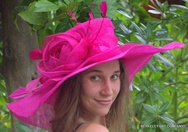 Hot Pink Kentucky Derby Hat