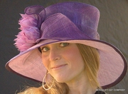Sunburst Two-Tone hat for the Kentucky Derby