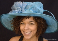 Sinamay Rose Wide-Brim Hat