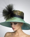 """Rita""  Wide Brim Derby Hat<br>   by Arturo Rios"