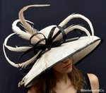 Kentucky Derby Shade<br>in Tan with Black Trim