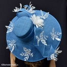 Kentucky Derby Featherdrift Hat in Turquoise Blue