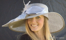 Satin/Straw Kentucky Churchill Downs Hat