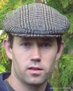 Harris Tweed Brown Plaid Houndstooth Cap (IR07)