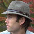 Harris Tweed Hat, Brown Herringbone (IR10)