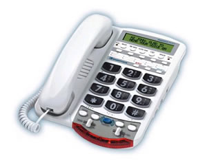 Clarity 76566 Voice Carry Over Phone - White
