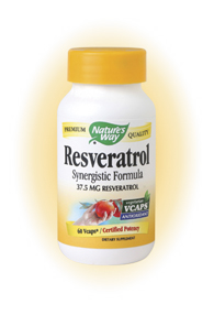 Resveratrol Synergistic Formula, Nature's Way 37.5mg - 60 Capsules