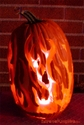 The Finished Flame Job Pumpkin