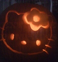 The Hello Kitty Pumpkin - Truly Frightening