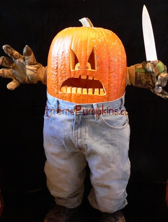 The Angry Kid Pumpkin