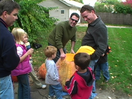Giant Pumpkin Carving
