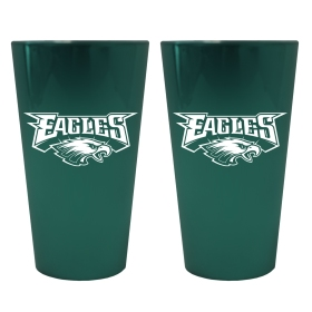 Philadelphia Eagles Lusterware Pint Glass - Set of 2