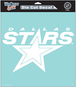 "Dallas Stars Die-Cut Decal - 8""x8"" White"