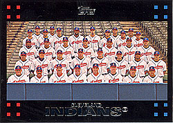 Cleveland Indians 2007 Topps Baseball Card Team Set
