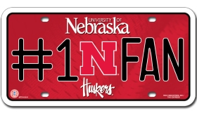 Nebraska Huskers License Plate - #1 Fan