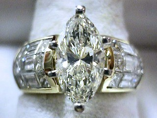 3.44 Carat Invisible Set Princess Engagement Ring SOLD