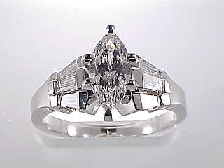1.31 Carat HRD Certified Marquise Cut Diamond Ring SOLD
