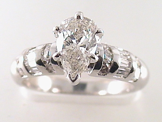 1.78 Carat Pear Shaped Diamond Platinum Engagement Ring SOLD