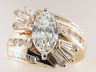 4.08 Carat EGL Marquise Cut Diamond Engagement Ring SOLD