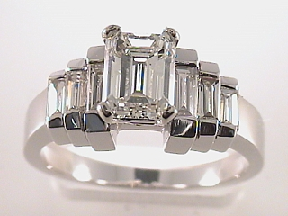 2.02 Carat Emerald Cut Diamond Engagement Ring SOLD