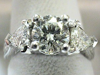 1.72 Ct EGL Certified Brilliant & Trilliant Cut Platinum Ring SOLD