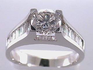 2.25 Carat Round Brilliant Cut Diamond Engagement Ring SOLD