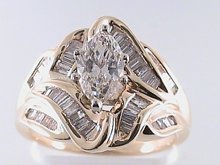 2.0 Carat Marquise Cut Diamond Engagement Ring SOLD